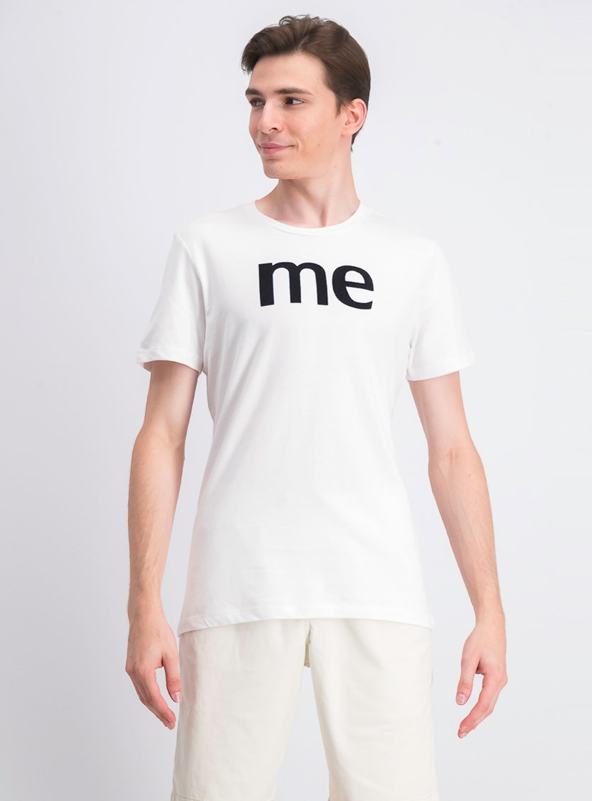 Men's Me Graphic-Print T-Shirt, Bright White