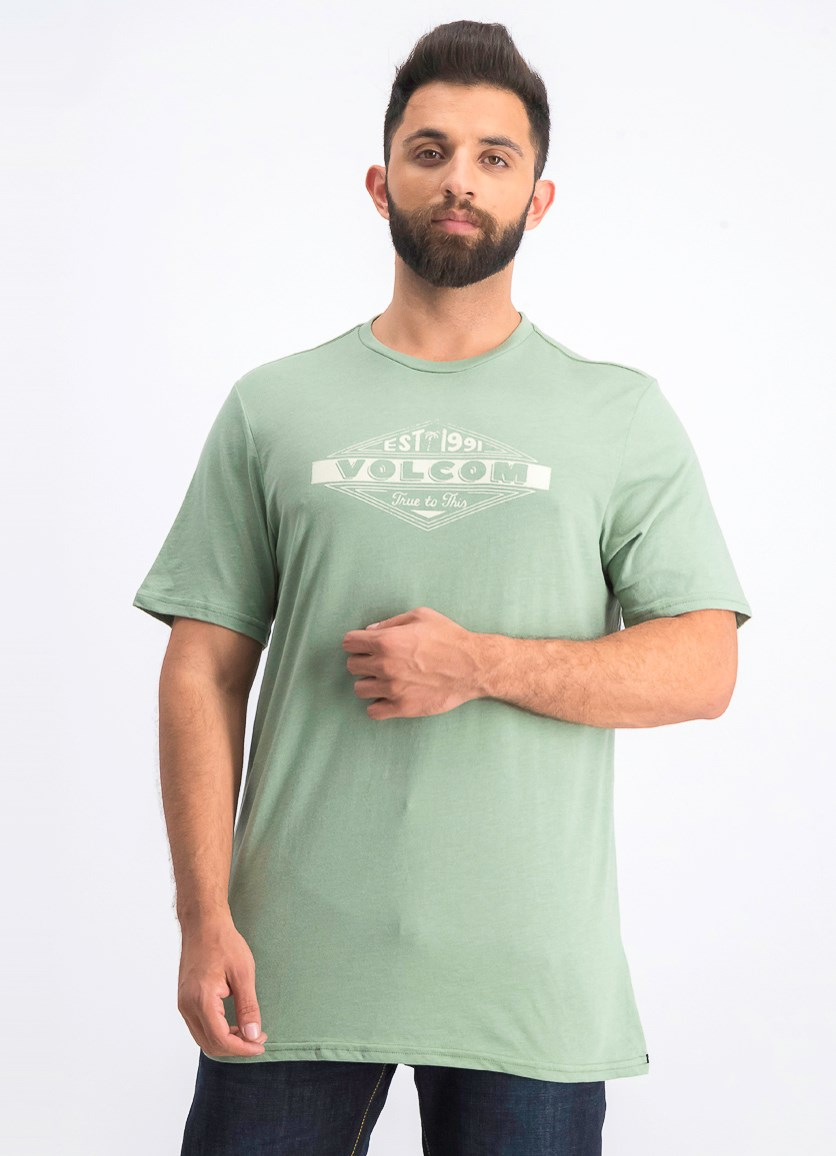 Men's Run Logo Graphic T-Shirt, Green