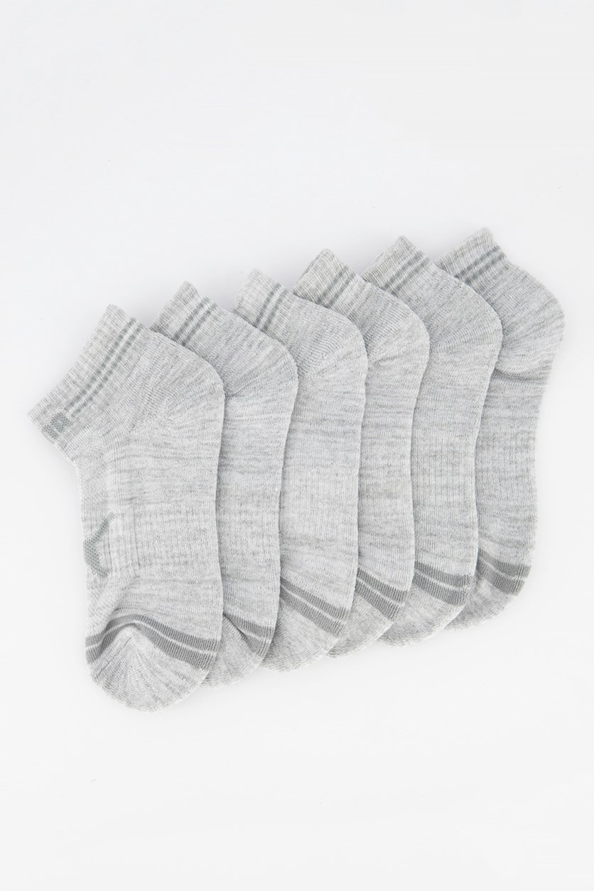 Men's 6 Pairs Training Low Cut Sock, Gray