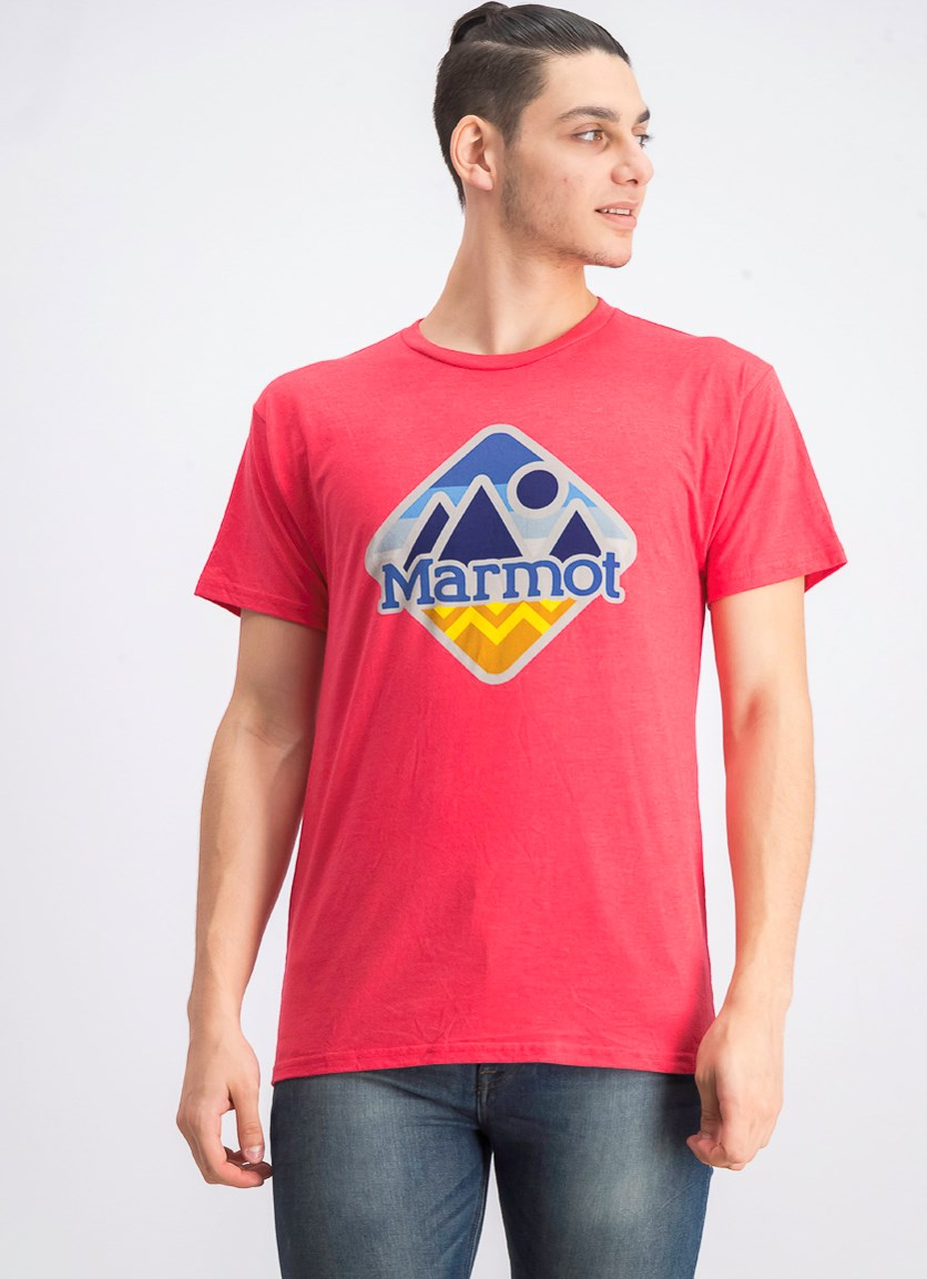 Men's Brand Logo T-shirt, Red Heather