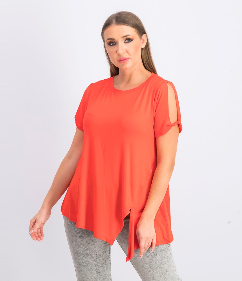 Women's Cold Shoulder Tunic, Red