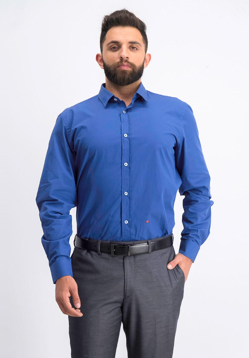Men's Long Sleeve Dress Shirt, Blue