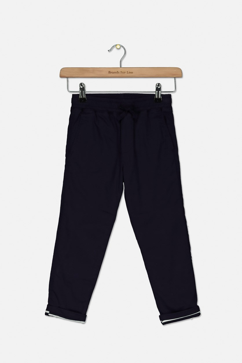Toddlers Boys Lined chino Pants, Navy