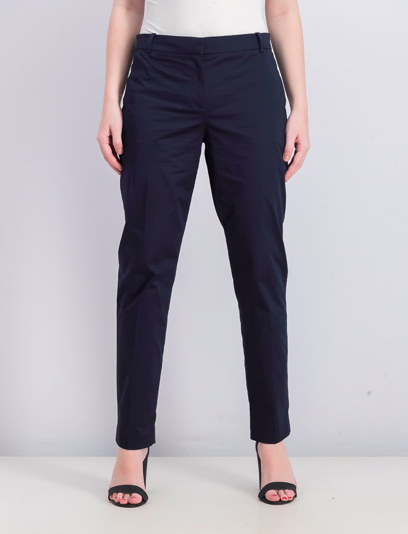 Women's Front Pocket Pants, Navy Blue