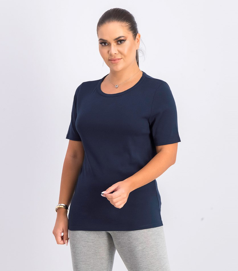 New Perfect-Fit T-Shirt, Navy