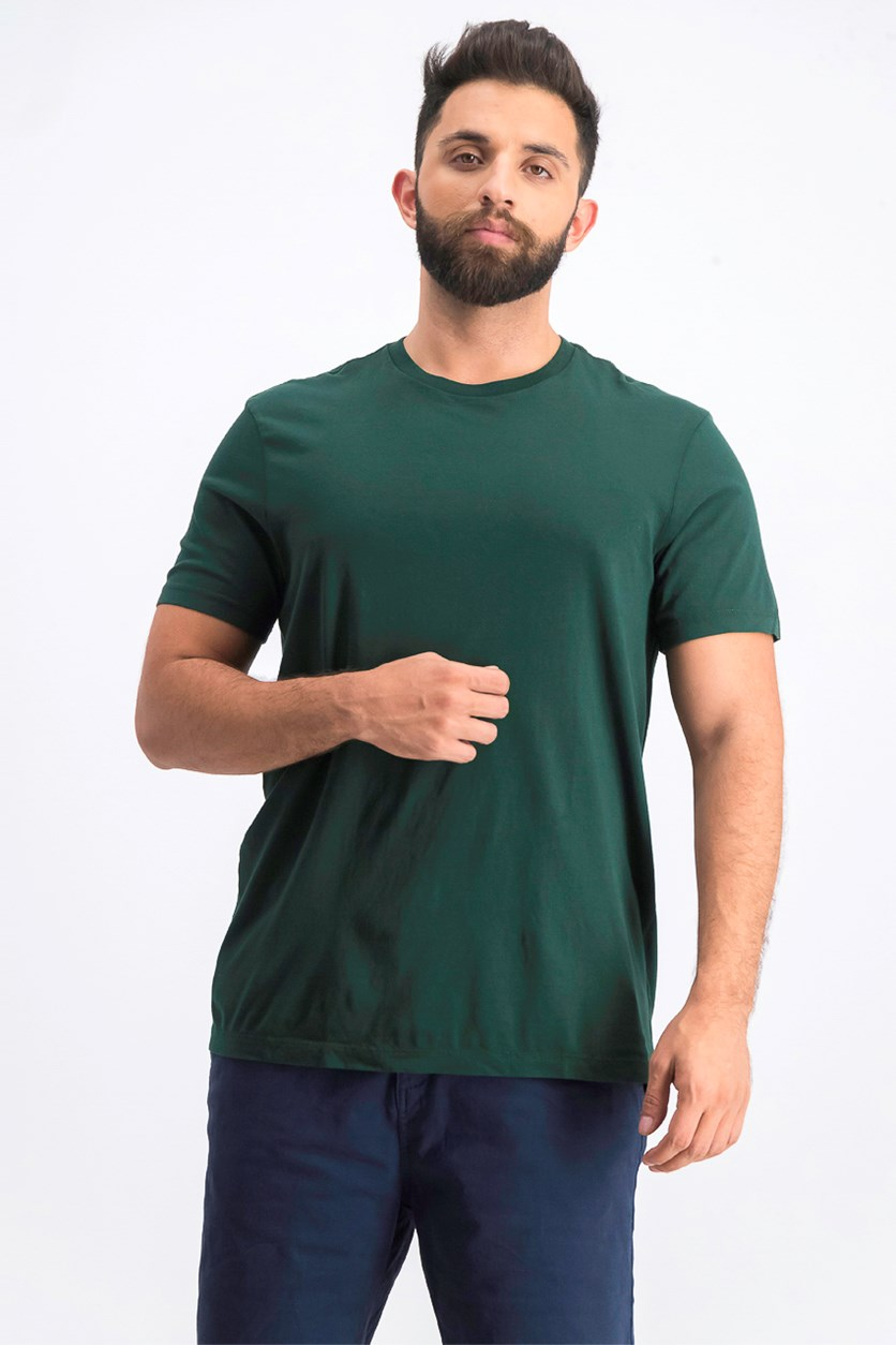 Men's Washed Jersey Crew, Dark Green