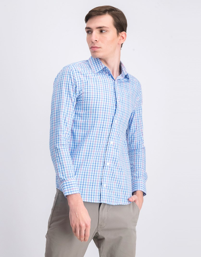 Men's Casual Shirt, Blue/White