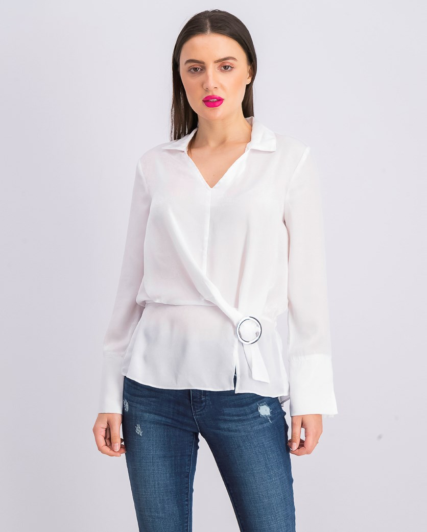 Women's Caryle Belt Detail Blouse, White
