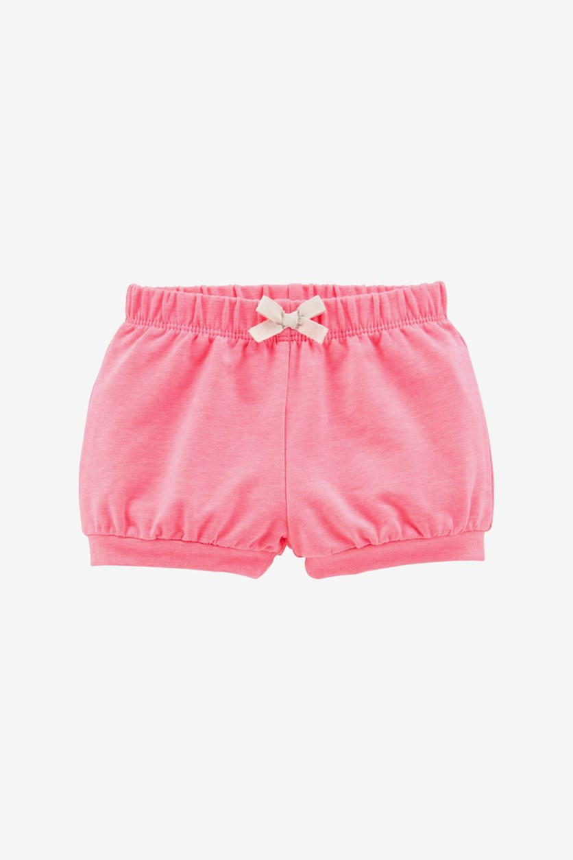 Toddler Girls Neon Pull-On French Terry Bubble Shorts, Pink