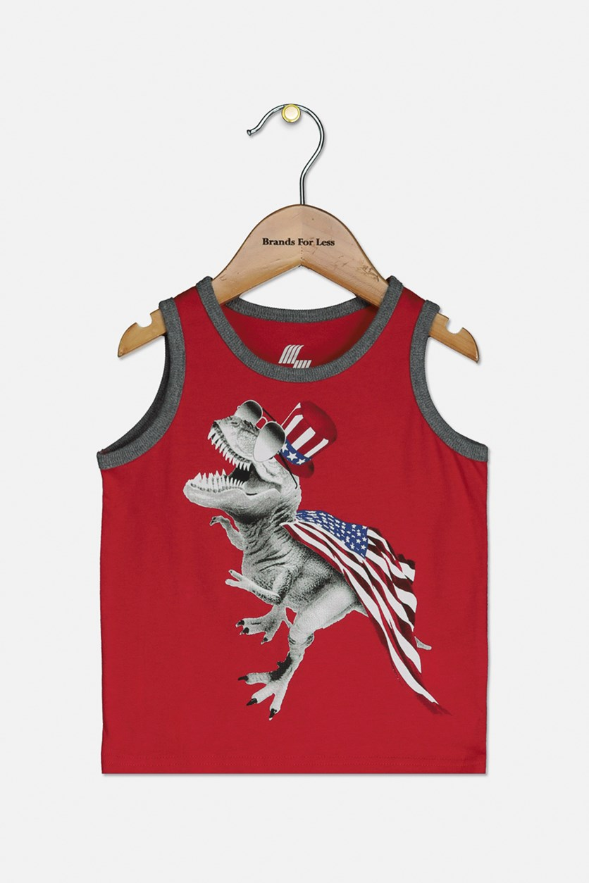 Baby Boys Graphic Tank, Ruby
