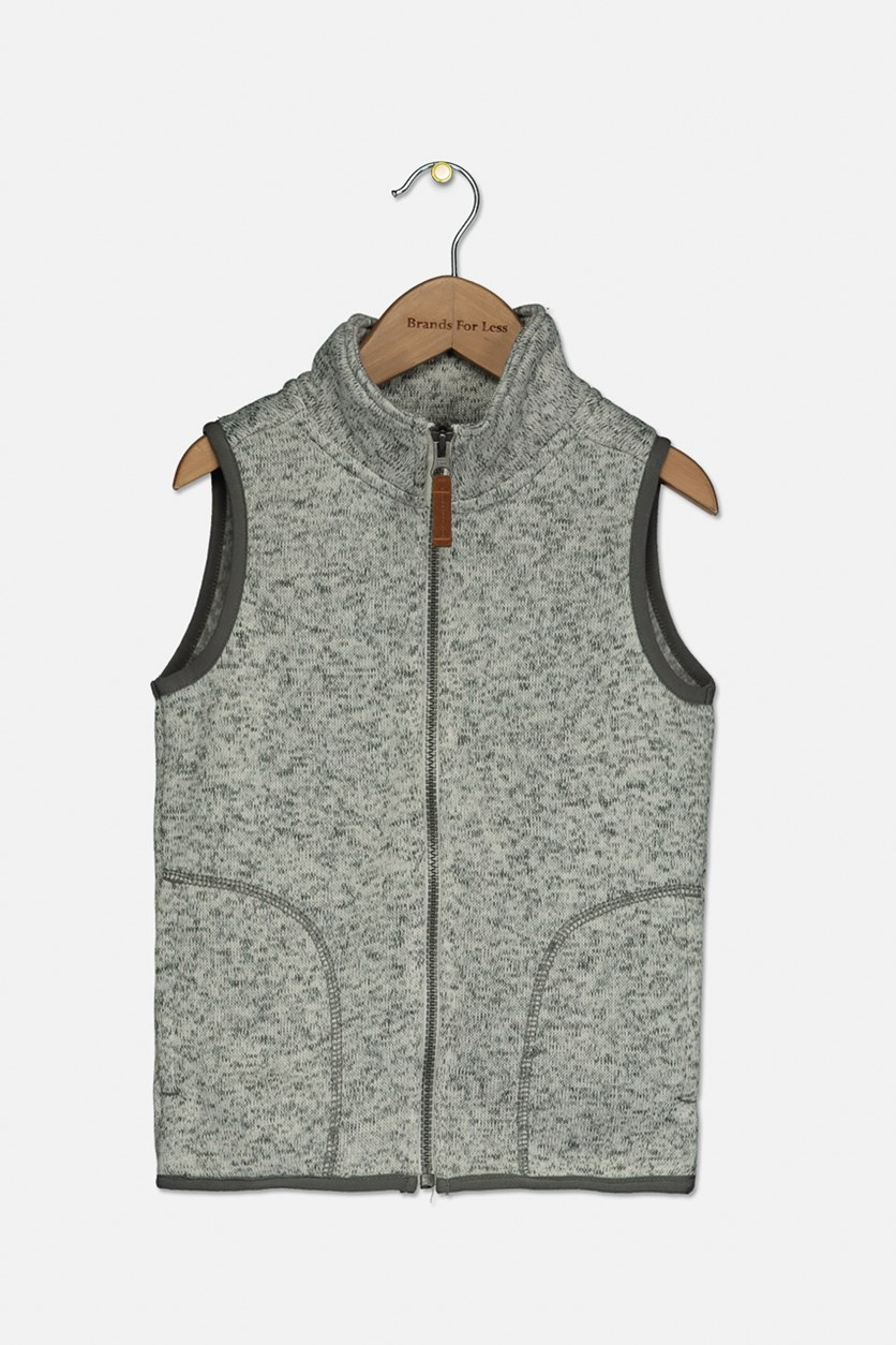 Little & Big Boys Fleece-Lined Sweater Vest, Ivory Combo