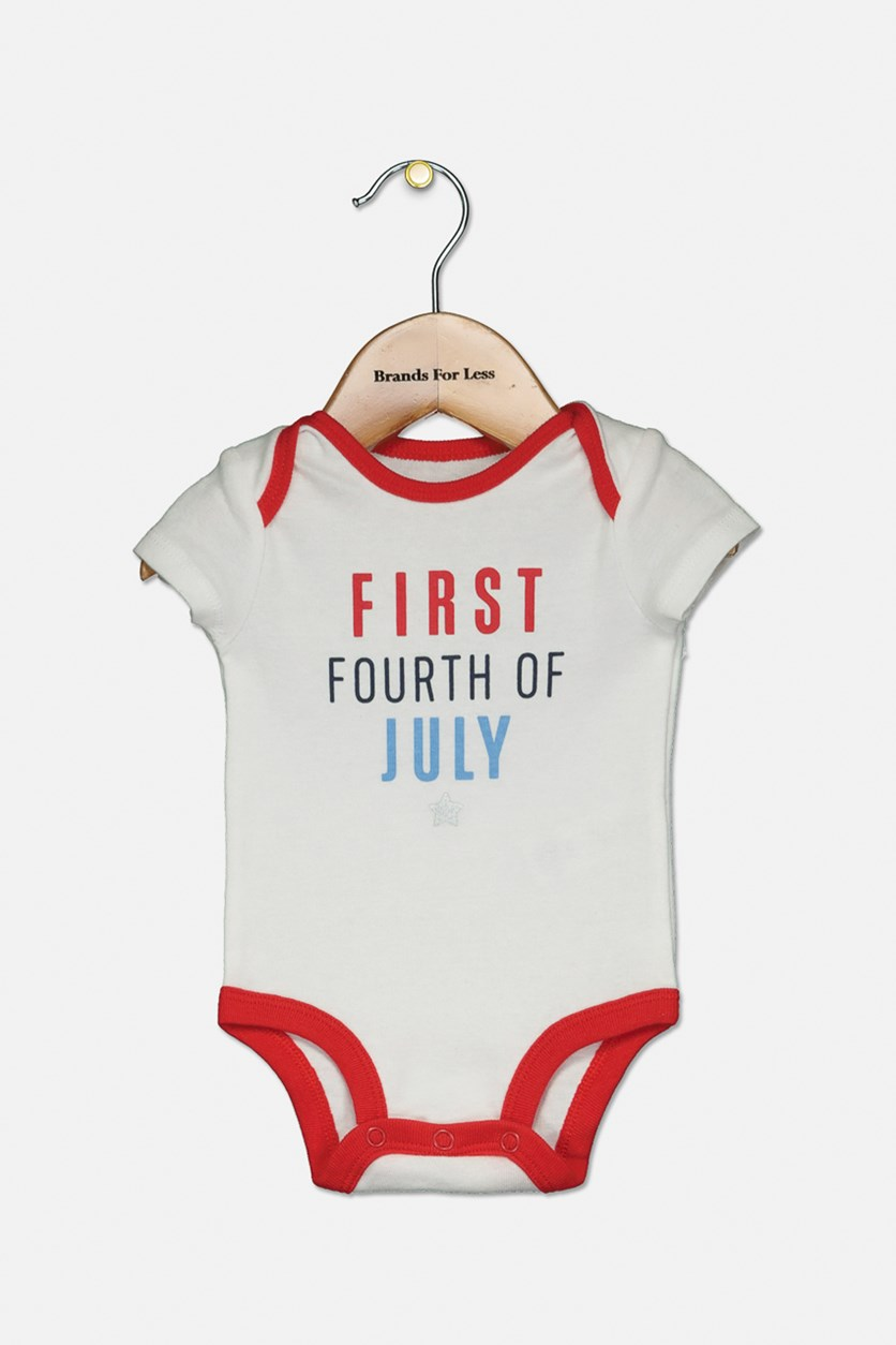 Baby Boys Holiday Bodysuit, White