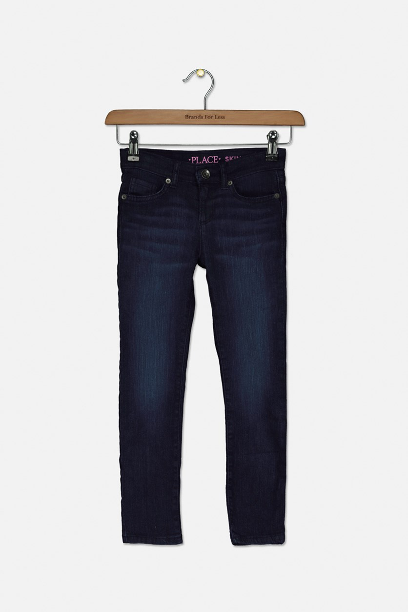 Big Girls Skinny Jeans, Wash Indigo