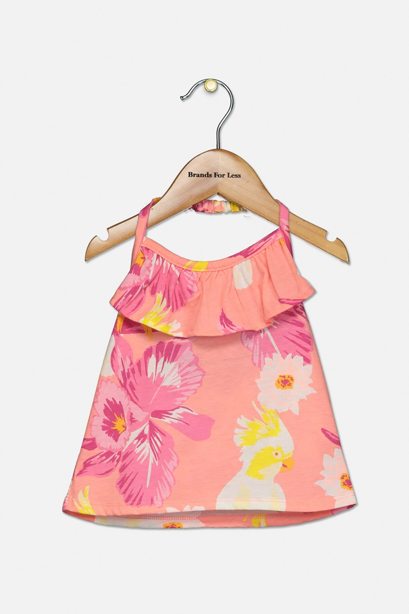 Baby Girl's Floral Top, Pink