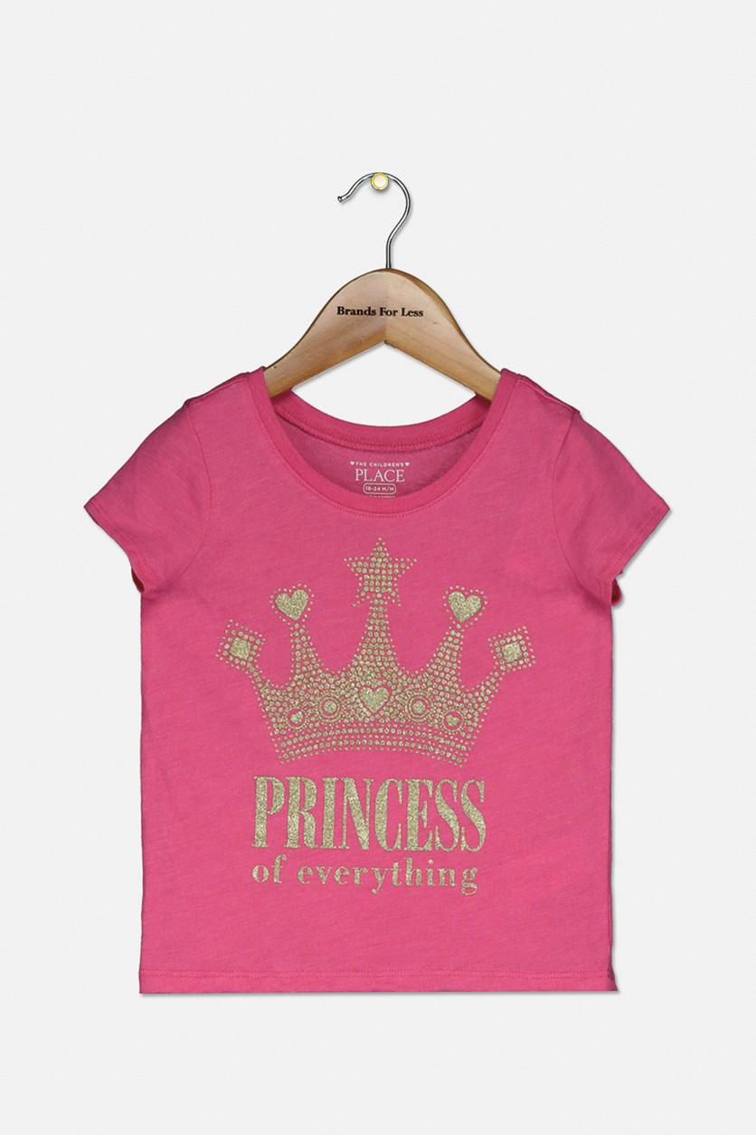 Toddlers Princess For Everything Top, Neon Pink