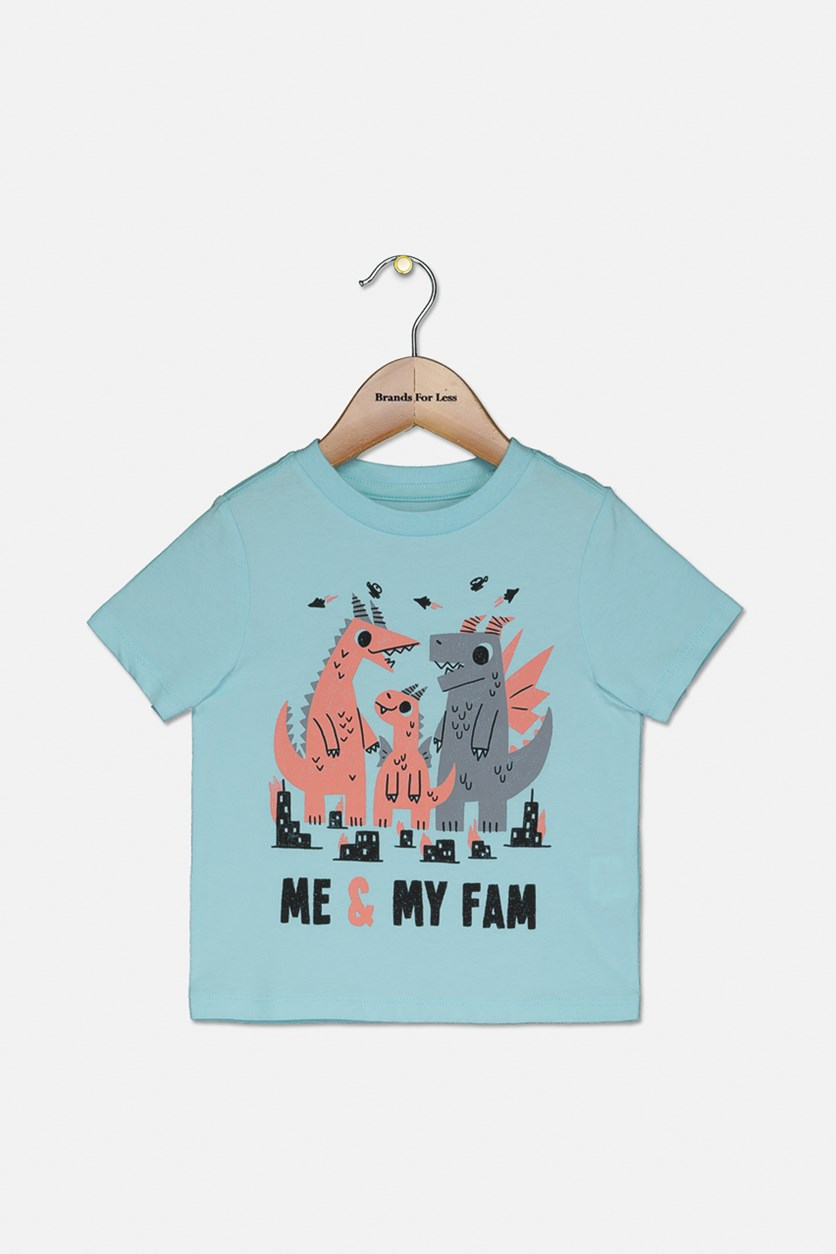 Toddlers Graphic Tops, Sea Crystal
