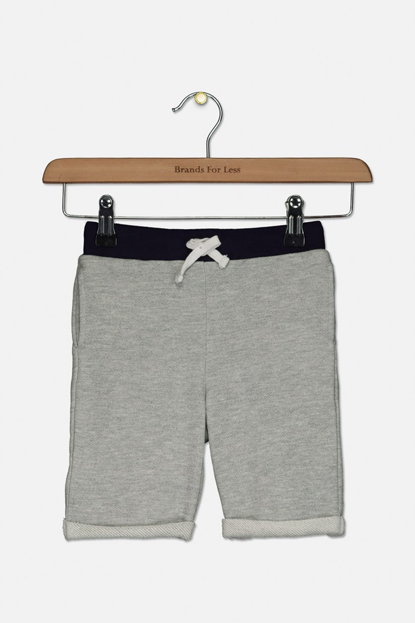Toddlers Boy's Drawstring Short, Gray