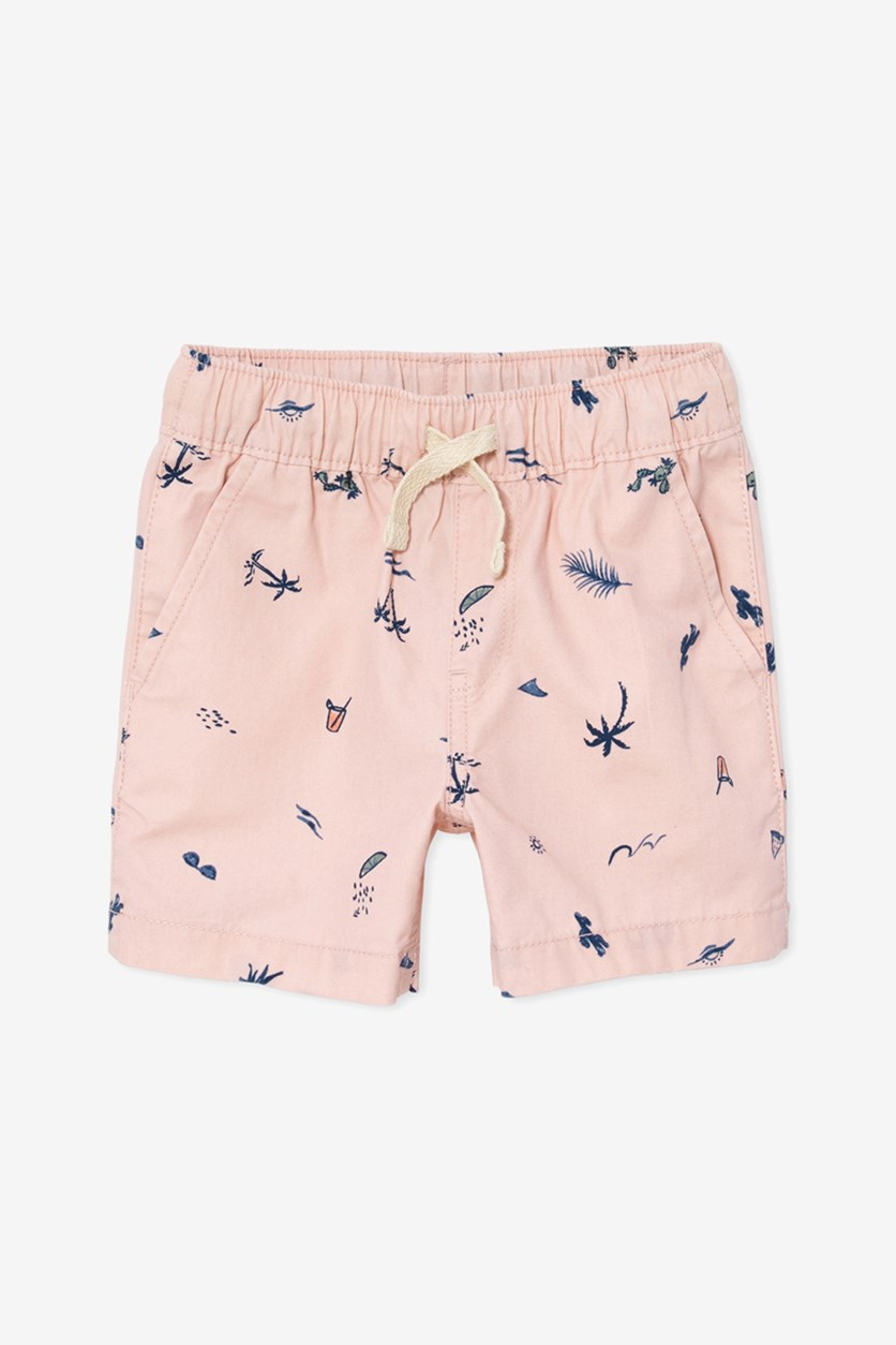 Baby Boys Drawstring Short, Rose Dust