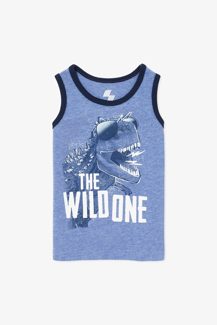 Baby Boys Graphic Tank, Edge Blue