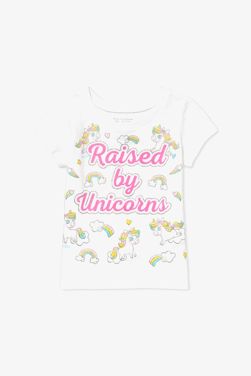 Girls Raised By Unicorn Top, White