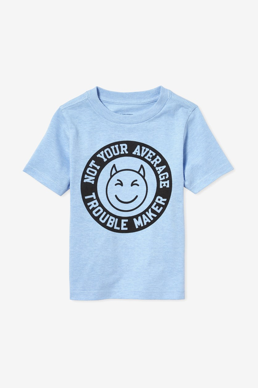 Toddlers Boys Graphic Print T-Shirt, Blue