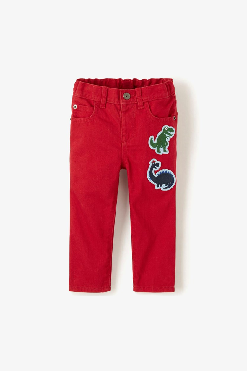 Toddler Boys Tiny Dino Denim Jeans, Classic Red