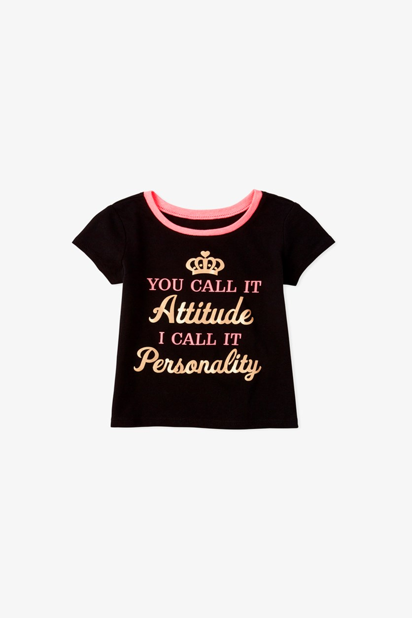 Baby Girl's Graphic Top, Black