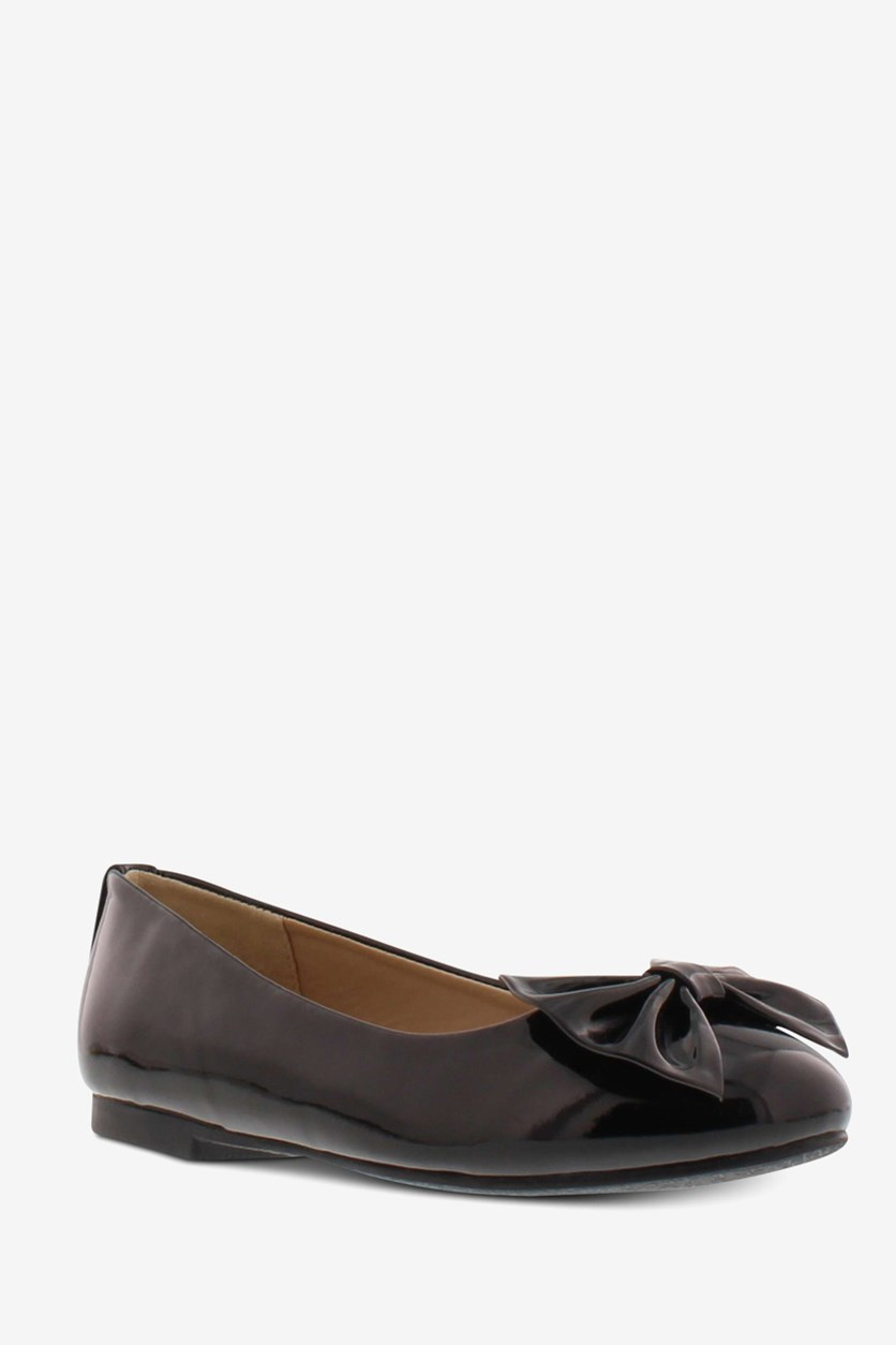 Girls Felicity Chelzee Flats, Black