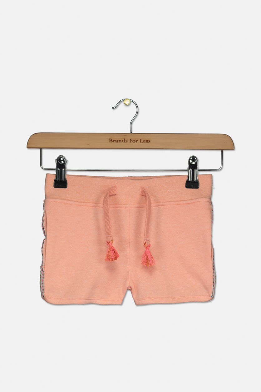 Big Girl's Pull On Shorts, Peach