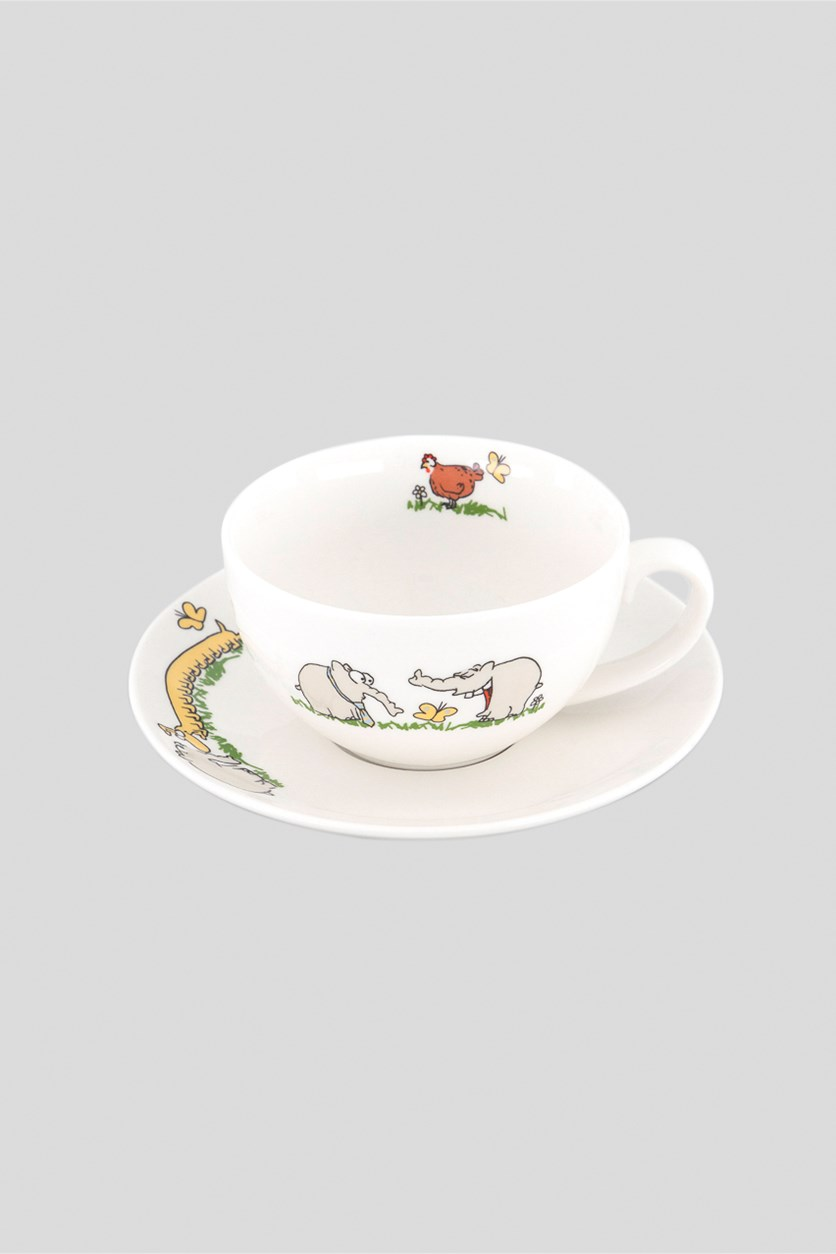 Coffee Cup with Saucer, White
