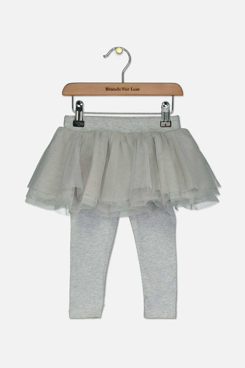 Baby Tulle Skirt With Leggings, Grey
