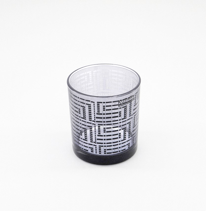 Table Light Candle Holder, Black/Silver
