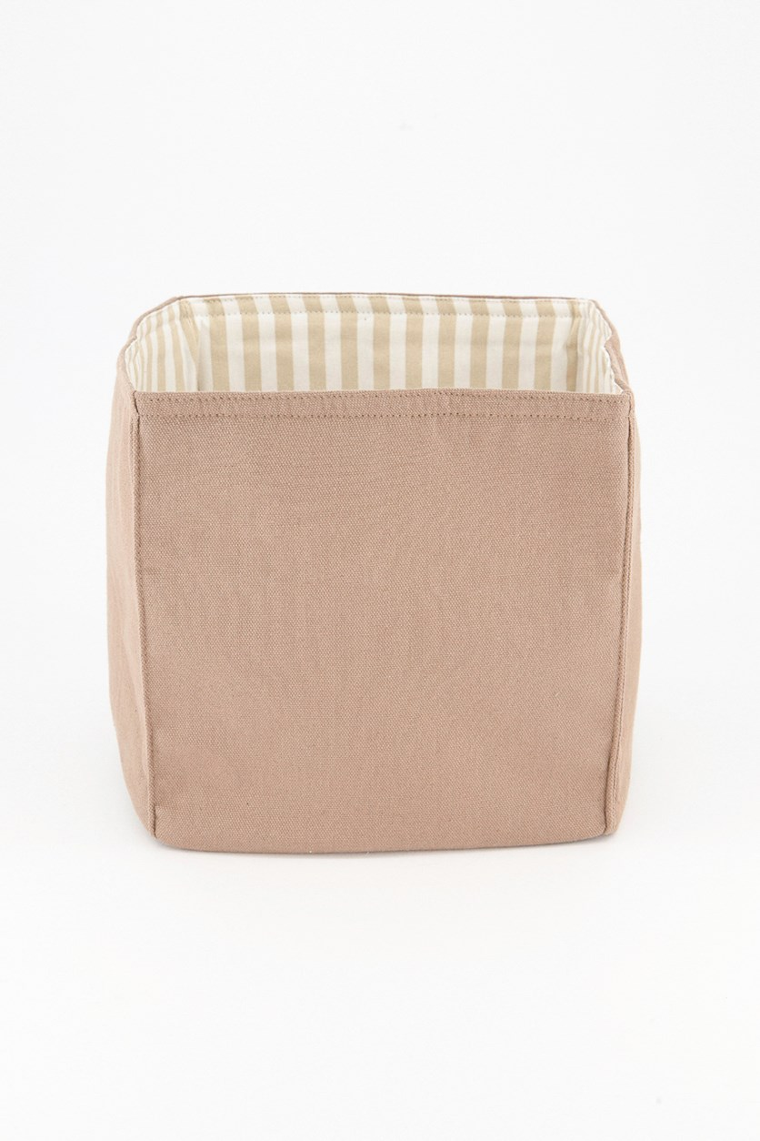 All Purpose Basket Striped, Taupe