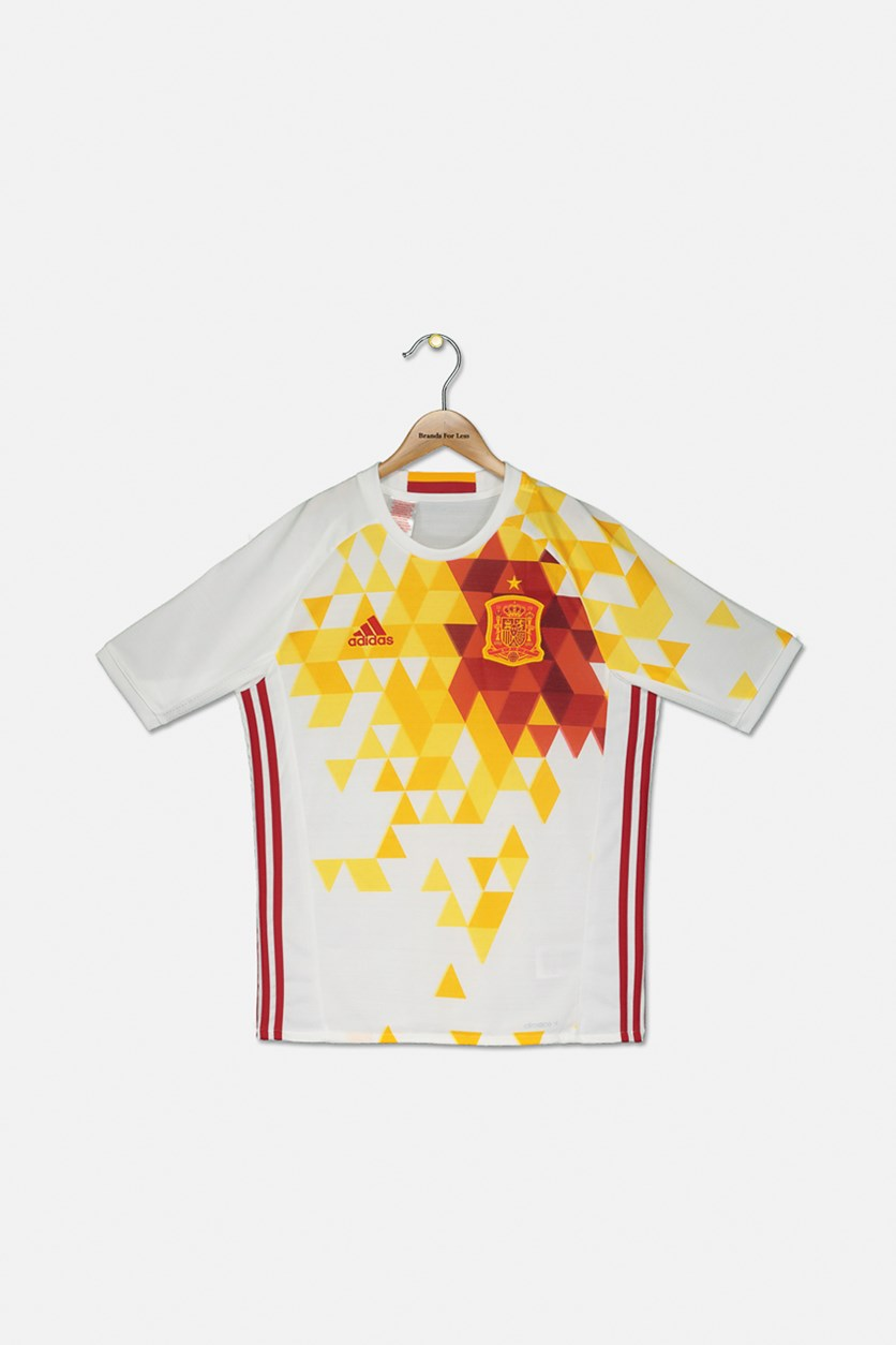 Spain Away Adidas Football Shirt, White/Power Red