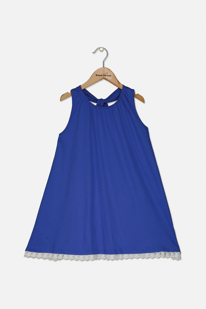 Kids Girls Sleeveless Dress, Blue