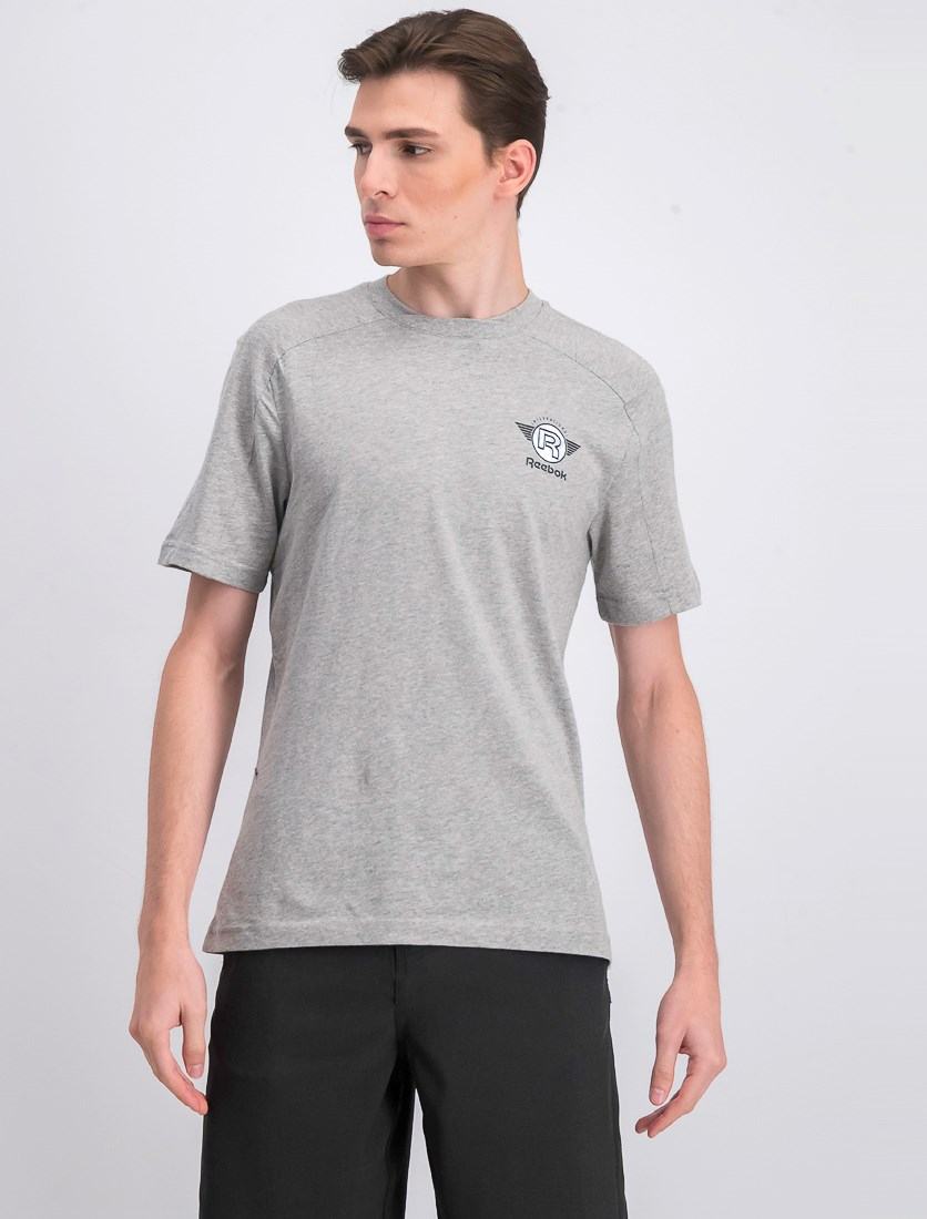 Men's Vintage Graphic T-Shirt, Medium Grey Heather