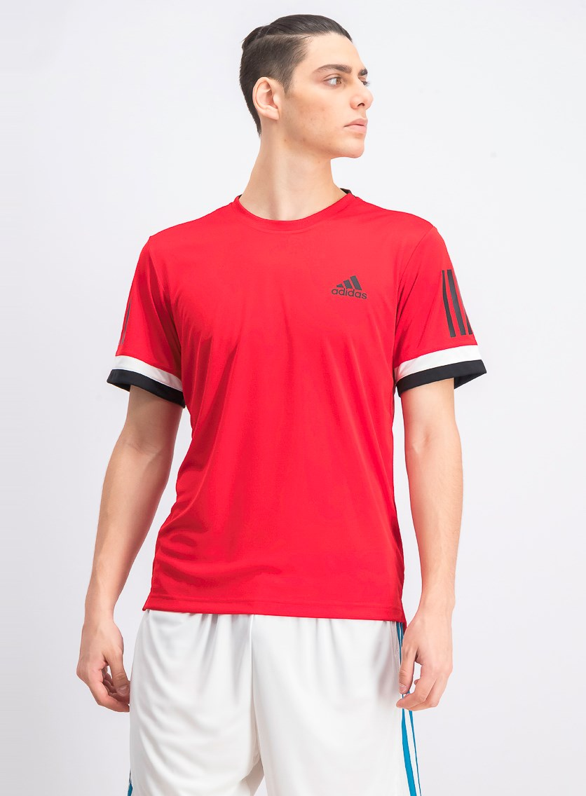 Men's Club 3 Striped Tee, Red