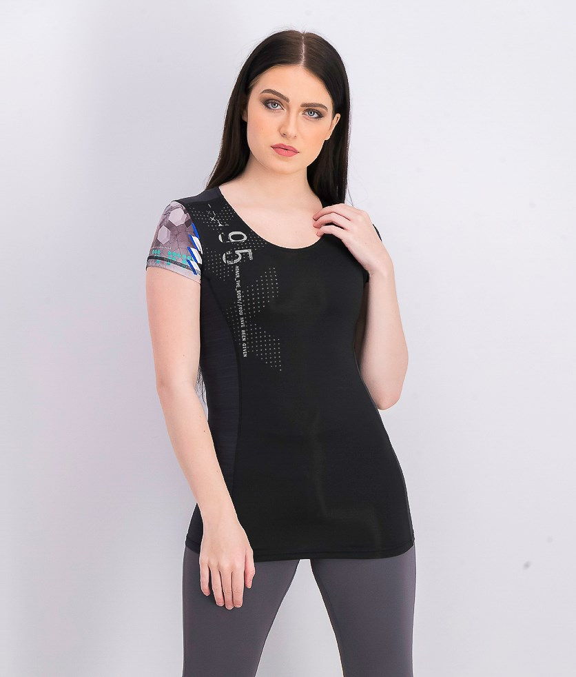 Women's Short Sleeve Tee, Black Combo