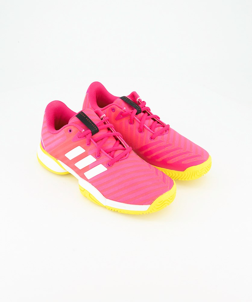 Junior's Tennis Shoes, Pink/White/Yellow