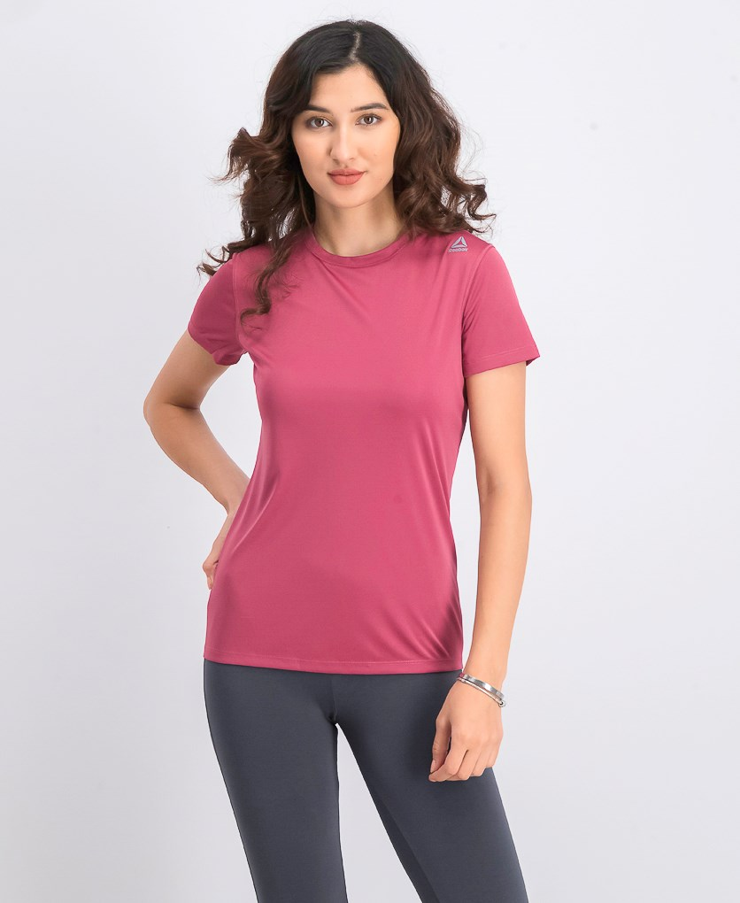 Women's Short Sleeve Running Tee, Twisted Berry