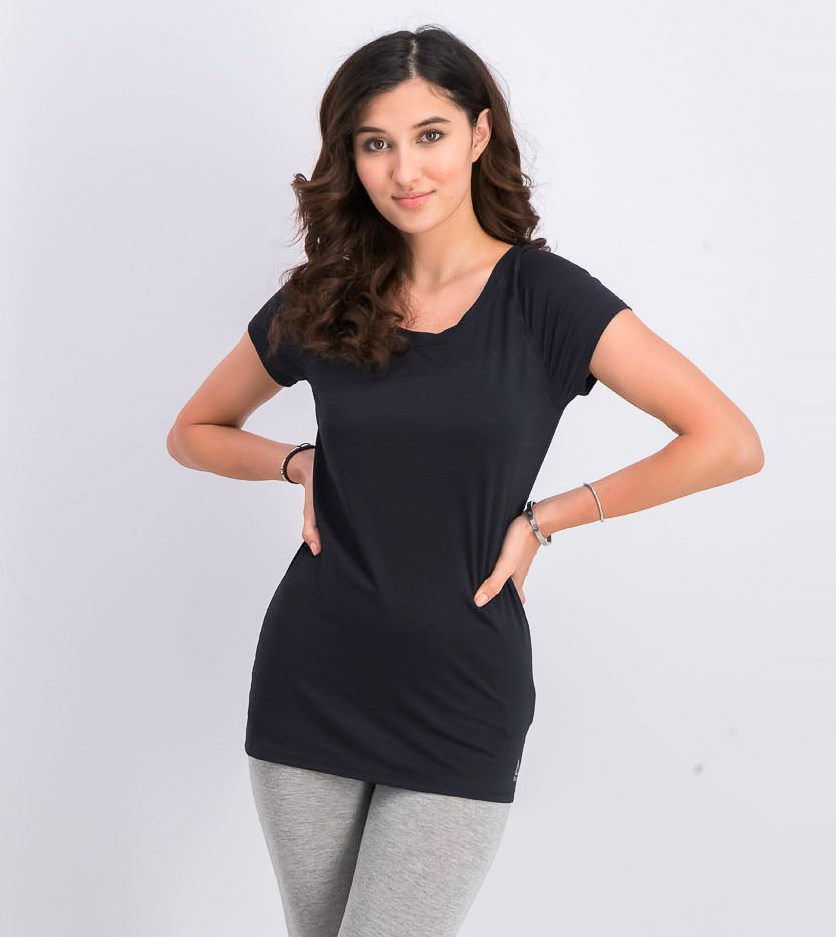 Womens Os Active Chill Vent Tee, Black