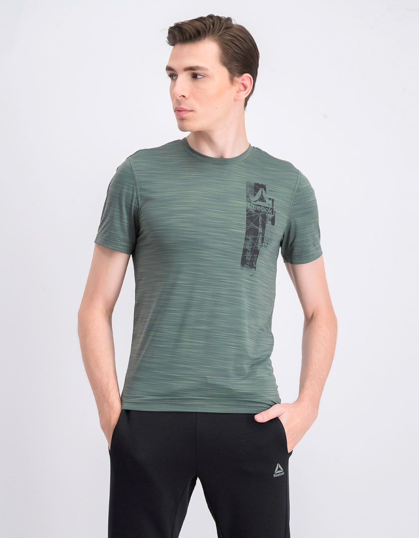 Men's Training Work Out Ready Graphic T-Shirt, Green