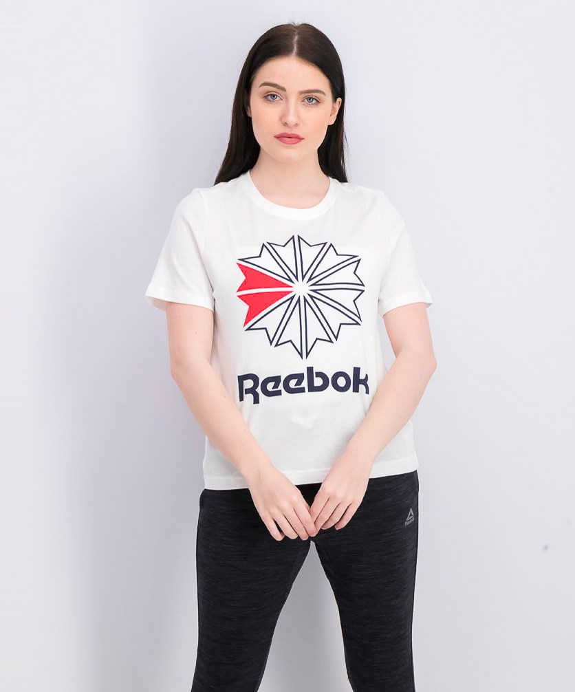 Women's Big Logo Graphic Tee, White