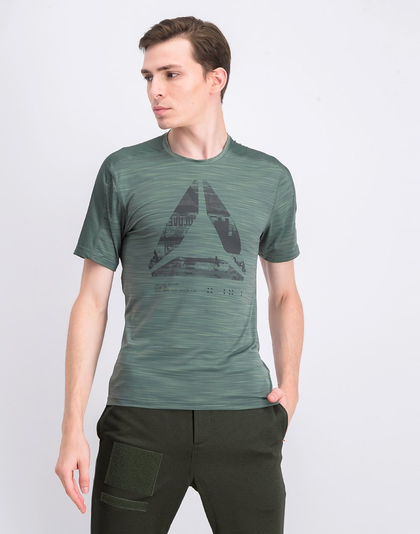 Men's Graphic Print Move T-Shirt, Chill Green
