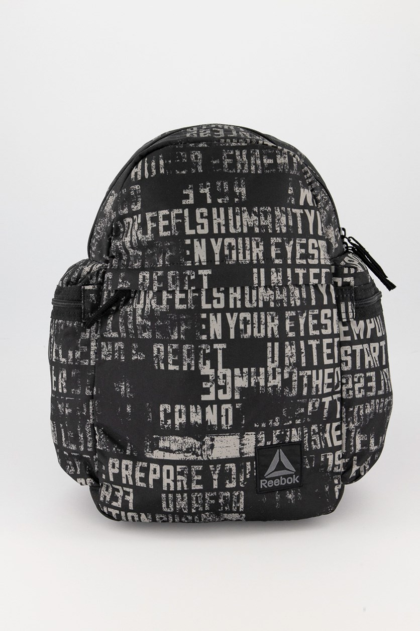 Kids Boys Graphic Backpack, Black/Olive