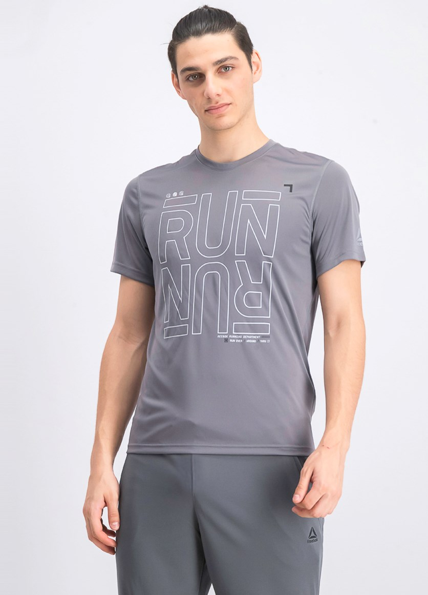 Men's Reverse Print T-Shirt, Grey