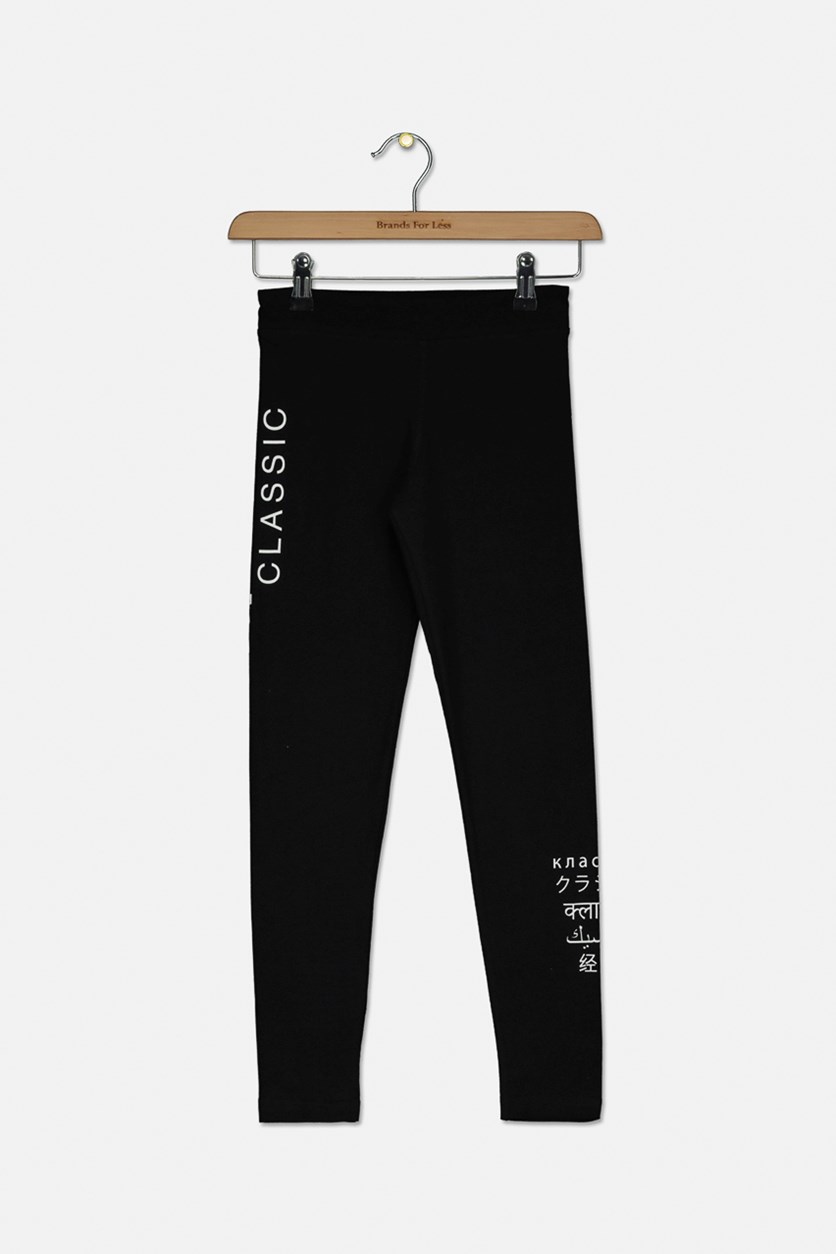Girls Classics Leggings, Black