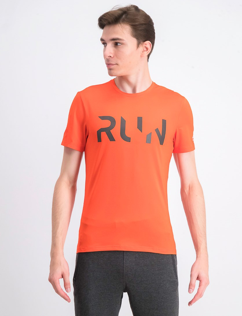 Men's Running Short Sleeve Elevated T-shirt, Carotene