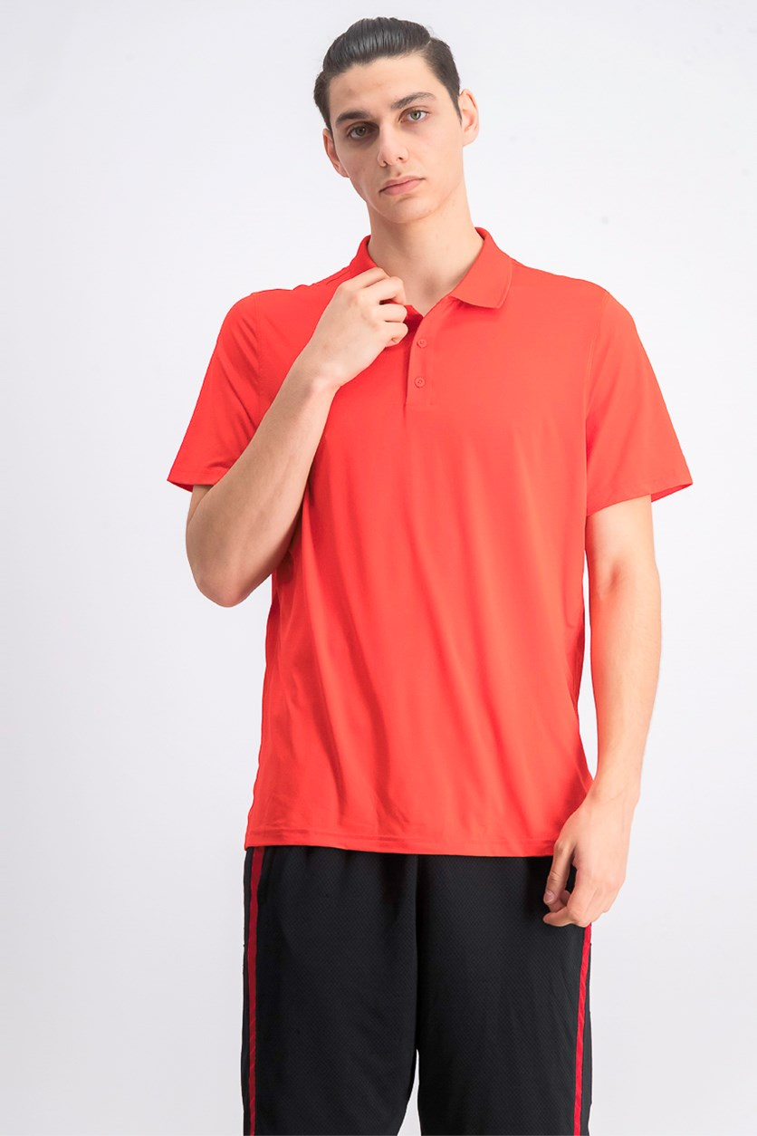 Mens  Work Out  Regular Polo Shirt, Canred