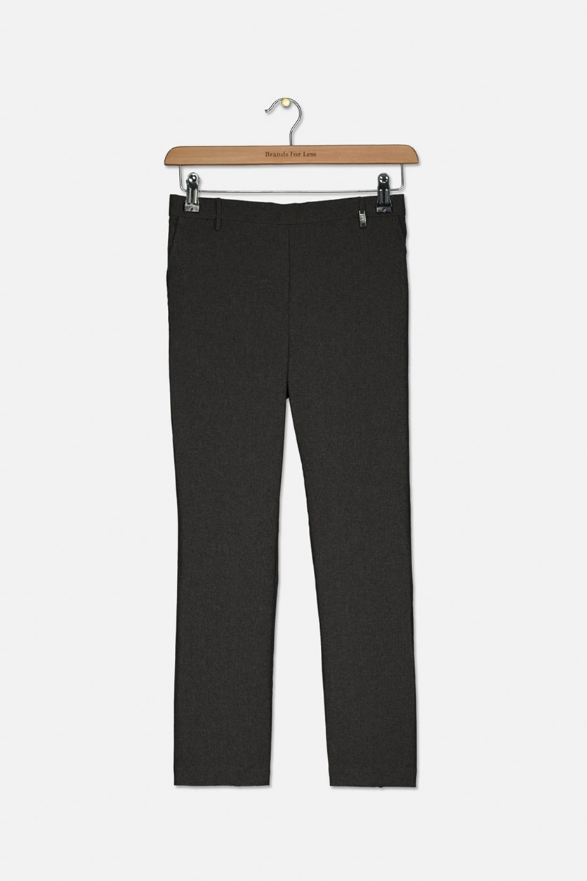 Kids Boys Side Pocket Pants, Heather Grey